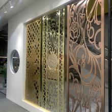 工厂定做现代雕花艺术铝屏风-室内隔断装饰铝合金板背景墙