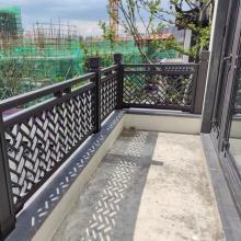 厂家定做仿木纹铝合金护栏-阳台长廊装饰金属铝栏杆