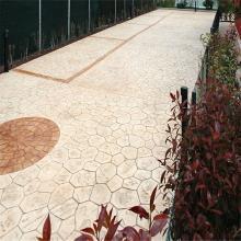 安徽文博园新浇混凝土表面压花造型艺术地坪 装饰面艺术复古地坪