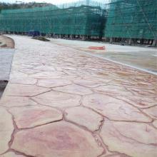 邯郸复古街道铺装仿鹅卵石路面施工报价 艺术压模地坪施工流程