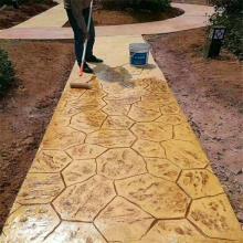 菏泽园林仿木纹道路施工报价 水泥压印地坪装饰技巧  路面改色