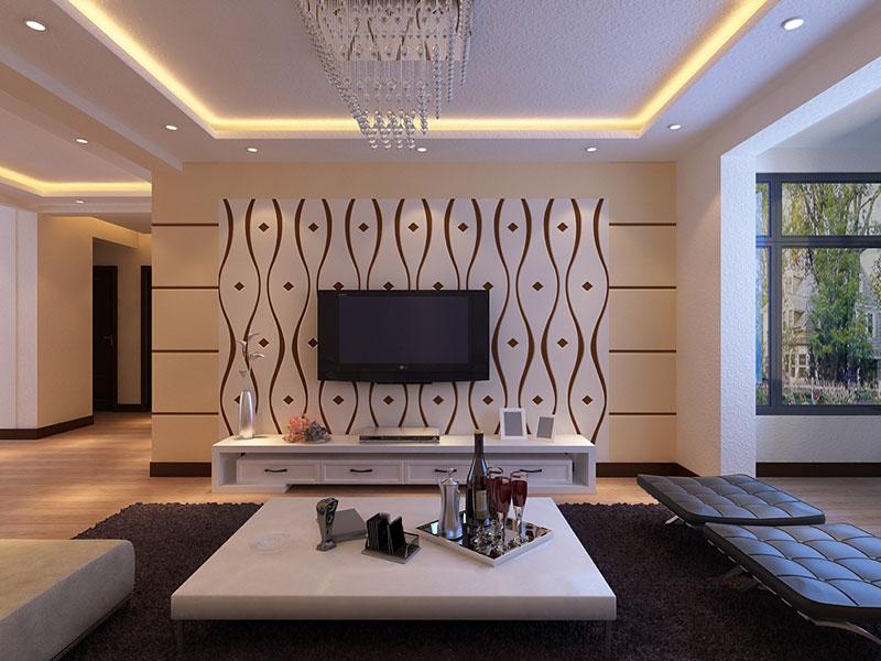 简单便宜的电视墙图 简单大气电视墙造型