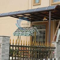 定制别墅铝合金大门阳台窗户走道遮阳雨棚pc耐力板防紫外防晒防漏