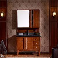 新中式实木浴室柜|四川浴室柜厂家直销|橡木浴室柜十大品牌