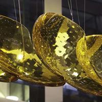 非标定制不锈钢水瓢玻璃工程灯 酒店大堂异形手工玻璃灯