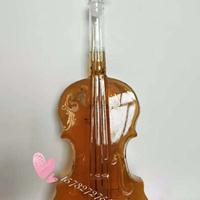 小提琴造型玻璃酒瓶创意个性玻璃酒瓶异形玻璃酒瓶吹制玻璃酒瓶