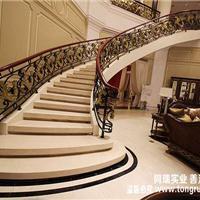 欧式弧形铁艺楼梯 钢结构弧形楼梯 工厂直销