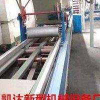 匀质防火保温板设备自动切割锯匀质板生产线实际操作流程