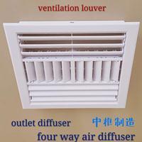 供应白色ABS一次成型中央空调方形出风口