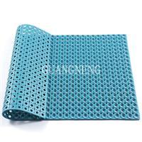 黑色矩形带孔排水可清洗外贸环保型防滑地垫橡胶门垫