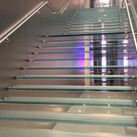 广州佛山12 12双钢化楼梯防滑玻璃