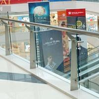 耀恒 商场玻玻璃楼梯立柱扶手 304大型商城不锈钢栏杆护栏 品质优