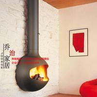 乔治RG500燃木真火壁炉 别墅吊装壁炉 实木取暖悬挂式异形壁炉