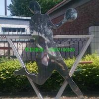 学校人物投篮雕塑 不锈钢抽象雕塑 校园景观不锈钢雕塑