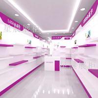 韩版鞋店装修展柜设计效果图