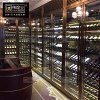 厂家直销不锈钢恒温酒柜 红酒柜定制美式 恒温不锈钢酒柜落地式