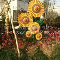不锈钢仿真植物向日葵花朵雕塑