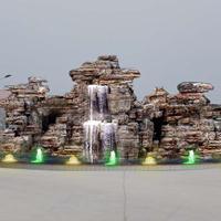 北京水泥假山厂家|斧劈石假山制作|水泥假山设计|千层石