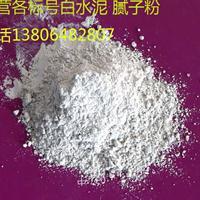 厂家供应优质高标号白水泥 白色硅酸盐水泥 32.5高强度国标白水泥