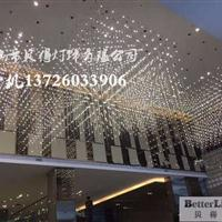 新款中庭吊灯方格光立方商场酒店大堂中空装饰价格厂家批发