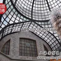 彩色玻璃穹顶彩绘玻璃穹顶专业设计上海圆博