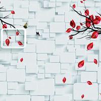 优雅壁画厂家热销江南风景大型背景壁画墙布