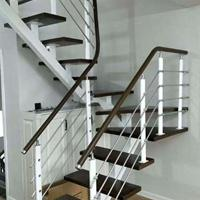 厂家供应设计定做钢木楼梯 楼梯配件 高端旋转楼梯