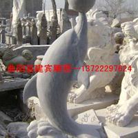 石雕海豚雕塑 公园动物雕刻摆件