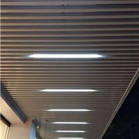 餐厅仿木纹铝方通吊顶 定制规格
