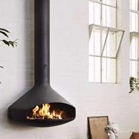 乔治RG950新款装饰壁炉真火 现代燃木火炉实木 悬挂式异形