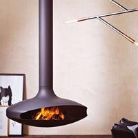 乔治RG900新款定制壁炉 燃木真火火炉 取暖悬挂式异形壁炉