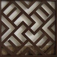 仿真木纹铝合金管材古式铝窗花