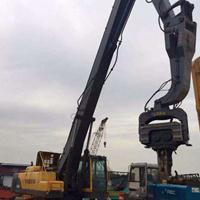 卡特挖机打桩长臂 现代打桩加长臂改装厂家