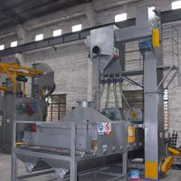 五金铝板除锈喷砂机 标准件去除氧化喷砂机 红海喷砂机厂家