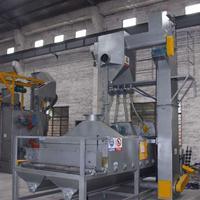 铸造件冲压件表皮毛刺清理喷砂机 板材输送式喷砂机