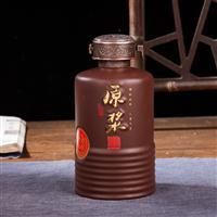咖啡色5斤装珍藏原浆酒坛 陶瓷酒坛价格 酒厂定做各种容器酒瓶