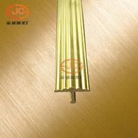 纯铜T型铜条背景强装饰地木地板镶嵌条 楼梯防滑条 压条 定制