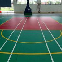 篮球场塑胶地板报价 塑胶篮球场