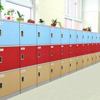 好柜子塑料学生书包柜、教室储物柜、走廊储物柜生产厂家