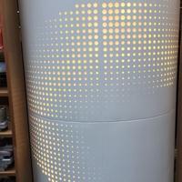 镂空筒灯包柱铝单板-铝板幕墙工厂