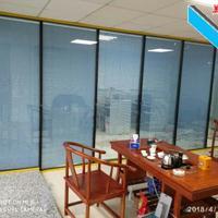 深圳玻璃间隔墙―中空百叶窗隔断工厂