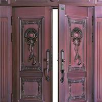 永和安仿铜门,防紫外线耐高温品质油漆勾兑优质铜粉喷涂!