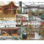 竹牌楼,竹门楼,温室竹艺品,处理竹片,碳化竹片,异型竹屋,