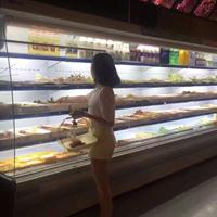 郑州厨具市场卖风幕柜的厂家|裕丰厨具风幕柜|冷风柜