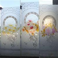 艺术玻璃现代屏风隔断墙家装玄关过道客厅鞋柜钢化工艺背景
