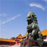 厂家供应石雕狮子 招财镇宅花岗岩石狮 墓地石材小件卧狮