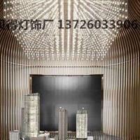 新款中庭吊灯方格光立方商场酒店大堂中空装饰沙盘区间吊灯