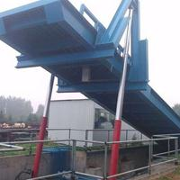 亚冠机械推荐粮食场卸料自卸平台 液压翻板机 大吨位自动卸车平台