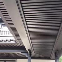石家庄市铝合金屋檐板,挑檐装饰板,格栅装饰挑檐版