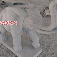 惠安石雕厂招财石象门口大象摆饰一对石刻室外装饰雕塑风水